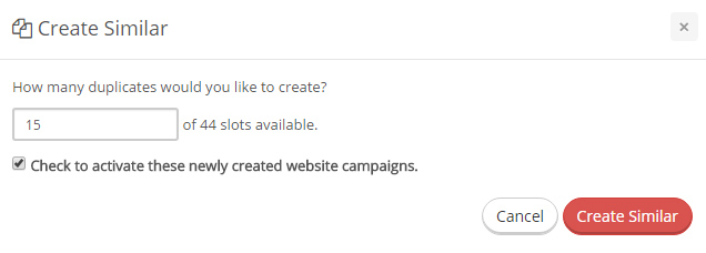 Create Similar Campaigns