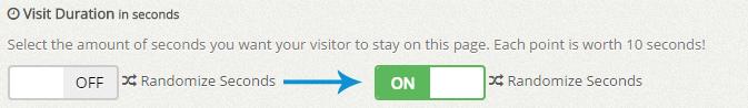 random visit duration ON